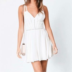 Silence + Noise Ivory dress NWT